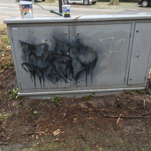 Graffiti verwijderd Beverwijk