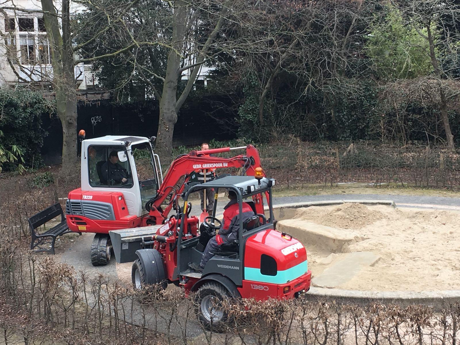 Zandbakzand vervanging