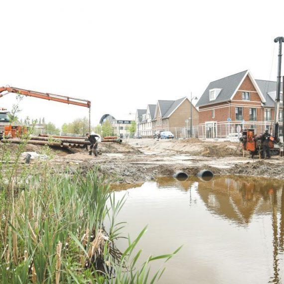 Nieuwe duikerbrug Badhoevedorp