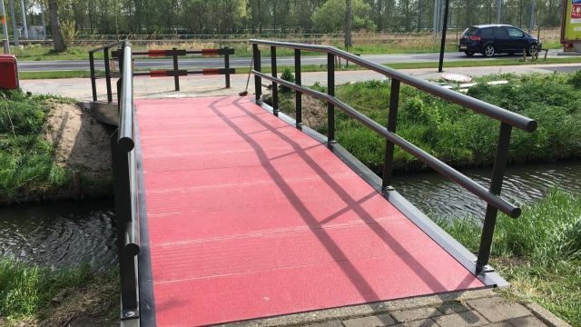 Houten brug Spoorsingel Beverwijk Vernieuwd
