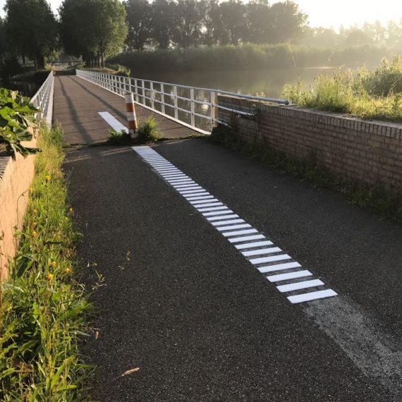 Ribbelmarkering fietspaden
