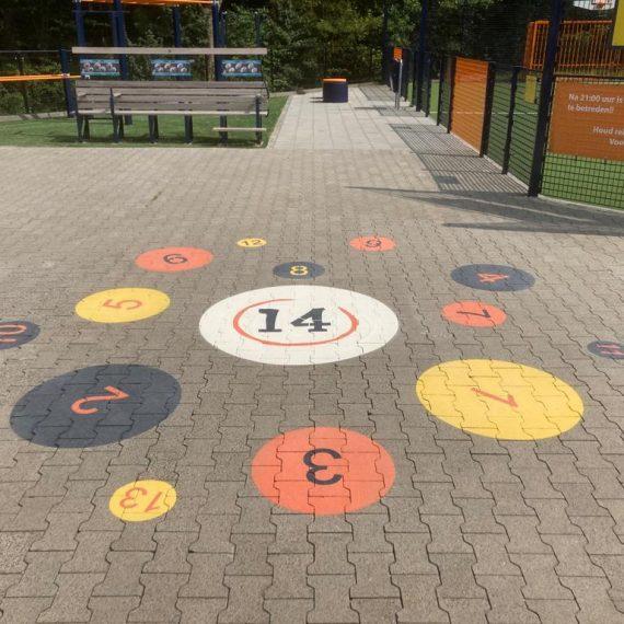 Belijning en markering - Speciale Cruyff Court Bibian Mentel, De Hoogstraat Revalidatie in Utrecht