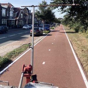 Kantmarkering kantbelijning fietspad